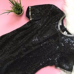 Vintage Night Vogue Sequin Beaded Party Dress